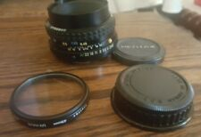 PENTAX-A SMC 1:2 50mm K Mount Lens with 2 caps & Vivitar 49 mm UV-Haze filter