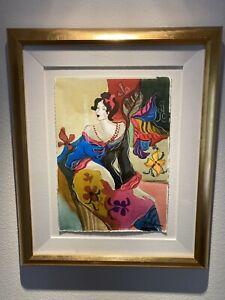 Patricia Govezensky Original Watercolor Framed & Signed