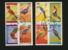 BIRDS Complete Set of 8 ( 2 blocks of 4) Colorful Birds of the World