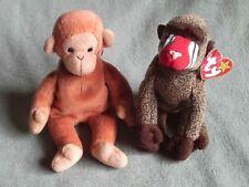 2f8e3766ef9 2 x Ty Beanie Babies - Bongo monkey and Cheeks baboon