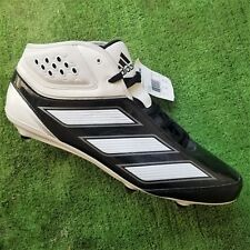 half off 5b82d 587b1 NEW Men ADIDAS Malice 2 D Black White Silver Football Cleats Shoes Sz 17  G48165