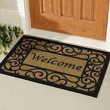 Double Door Outdoor Floor Welcome Mat Heavy Duty Large Coir Front Porch Doormat