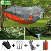 Camping Hängematte Zelt Moskitonetz Set Outdoor Reise Doppel 2 Personen Hän K2F3
