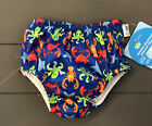 NWT! iPlay Swim Diapers Reusable 6 Months Baby Boys Crab Octopus Lobster