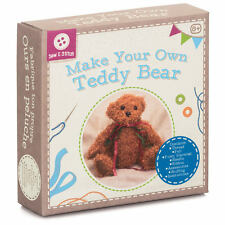 MAKE YOUR OWN TEDDY BEAR PLUSH CUDDLY COMPLETE STUFFED SOFT TOY CRAFT KIT 21669