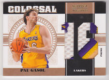 2010-11 National Treasures Colossal Patch Jersey Numbers Prime Pau Gasol #/10