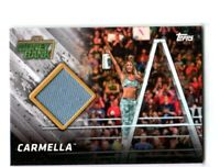 WWE Carmella 2018 Topps TNF Money In The Bank Mat Relic Card SN 60 of 299