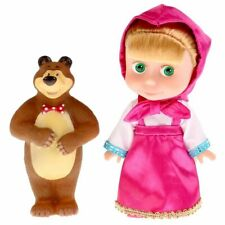 Talking doll Masha 25 cm 4 songs 100 phrases and toy Bear figures doll 10 cm