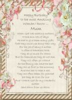 NEW 'Happy Birthday Mum/Mother' - A5 Birthday Card Celebration Mum Birthday