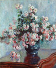 Chrysanthemums by Claude Monet Flowers Painting Fine Art Print Canvas Small 8x10