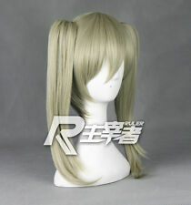 SOUL EATER Maka Albarn Anime Costume Cosplay Wig +2 Ponytails +Track NO + Cap