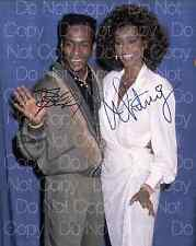 Bobby Brown Whitney Houston signed 8X10 photo picture poster autograph RP
