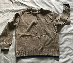 Boy's Cherokee Tan Brown Heathered Sweater Size M 8/10