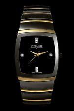 Wittnauer Ceramic Men's Quartz Watch 12D004 Black/Gold
