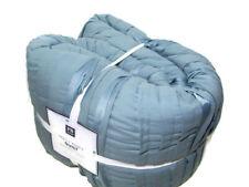 Pottery Barn Teen Dorm Grayish Hue Blue Pretty Pleats Full Queen Quilt New