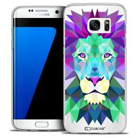 Coque Housse Etui Pour Galaxy S7 Edge Polygon Animal Rigide Fin Lion