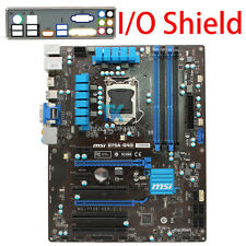 for Motherboard MSI B75A-G43 MS-7758 Intel B75 LGA 1155 Socket w/ I/O Shield