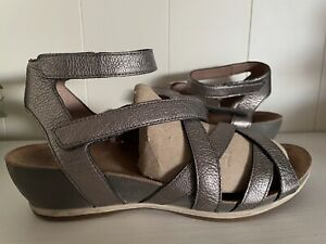 Dansko Veruca Sandals Graphite Nappa Leather Sz 39 US 8.5-9