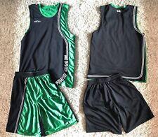 Ensemble Vintage Reversible And1 Basketball Set > Short & Jersey / Noir Vert XL