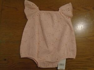 BNWT girls pink broderie anglaise sunsuit. Mothercare. RRP £14. Newborn   (2/1)
