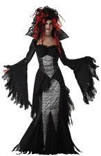 Neues AngebotDamen Schwarz ewige Verführerin Vampiress Halloween Kostüm Größe 8-10