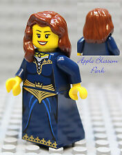 NEW Lego Dark Blue FEMALE MINIFIG Pirate Castle Kingdom Princess Brown Hair Girl
