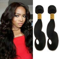 2 Bundles 8A Brazilian Body Wave Curly Hair Human Virgin Hair (Black) 8''