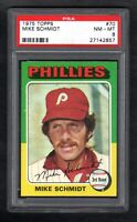 1975 TOPPS #70 MIKE SCHMIDT PHILLIES PSA 8 NM/MT CENTERED!