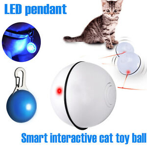 Cat LED Light Ball Electronic Automatic Rolling Funny Interactive Pet Kitten Toy