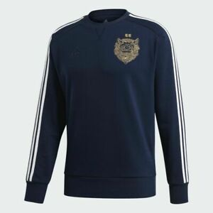 NWT Adidas Chinese New Year Real Madrid Crew Sweatshirt Pullover Blue FI4831