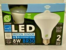 2 Pack LED Motion Sensor Light Bulb 8W BR30 3000k  65 Watt Equivalent 650L E26