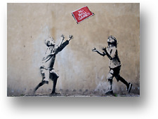 BANKSY NO BALL GAMES CANVAS PICTURE PRINT WALL ART FRAMED E8