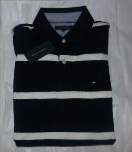 NWT Mens Tommy Hilfiger S/S Polo Shirt~NAVY / WHITE~SZ XXL