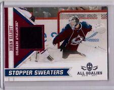 BRIAN ELLIOTT 10/11 Panini All Goalies Stopper Sweaters Jersey 17 Avalanche Card
