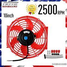 "10"" inch Universal Slim Fan Push Pull Electric Radiator Cooling 12V Mount Kit"