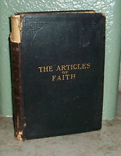 THE ARTICLES OF FAITH by James E Talmage 1901 2nd ED LEATHER  LDS Mormon Book