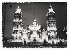 PHOTO ANCIENNE Éclairage nuit Jeu de lumière Vers 1950 Mexico Cathédrale Mexique