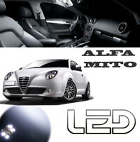 Alfa Romeo MITO 6 Ampoules Led Blanc Habitacle plafonnier  Coffre Portes