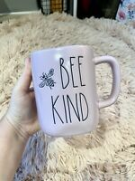 Rae Dunn New 2021 BEE KIND Pink/Purple Mug With Bee On The Front LL HTF RARE