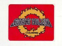Satans Hollow Original Video Arcade Game Machine Decal Promo Sticker 1982 Midway