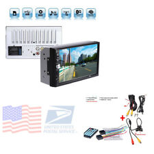 HD Touch Screen Car Stereo MP5 Player Bluetooth Backup Rear View Camera FM Radio