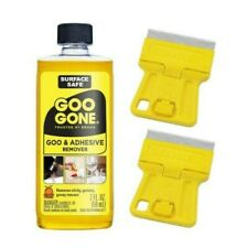 2 Stanley Mini Razor Blade Scraper and Goo Gone 2 oz Bundle Remove Adhesive