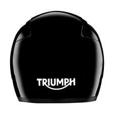 Triumph Reflective Bike Vinyl Sticker Decal In Reflective White / Helmets / Bike