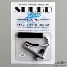 CAPODASTRE SHUBB L1 LITE electric / acoustic guitar capo, Alu 25g NICKEL Finish
