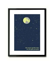 The Moon and the Stars First Time Ever Roberta Flack inspired Wall Art Poster