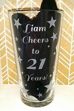 Personalised Engraved 21st Birthday Pint Glass - Cheers to 21 Years