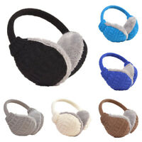 Knitted Plush Wrap Around Unisex Ear Muffs Cover Warm Winter Ski Warmers Cycling