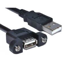 1m USB 2.0 Panel Mount Female A Socket to A Plug Cable [004323]