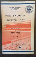 FA CUP SEMI FINAL 1949: Leicester City v Portsmouth