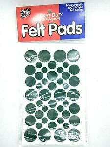 Felt Pads 46 Assorted Sizes Light Duty EXTRA STRENGHT Acrylic